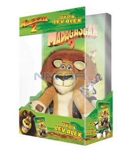 Madagaskar 2: Útěk do Afriky s hračkou - plyšák lev Alex