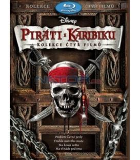 Box Piráti z Karibiku (Prokletí Černé perly + Truhla mrtvého muže + Na konci světa + Na vlnách podivna), 4 Blu-ray