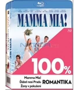Kolekce 3x Blu-ray -100% romantika (Ďábel nosí Pr,Mamma Mia!,Ženy v pokušení)