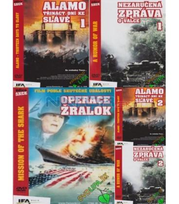 KOLEKCIA : Operace Žralok + Alamo :1 + Alamo: 2 + Nezaručená zpráva o válce 1 + Nezaručená zpráva o válce 2